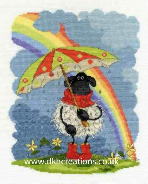 Shabby Sheep April Showers Cross Stitch Kit